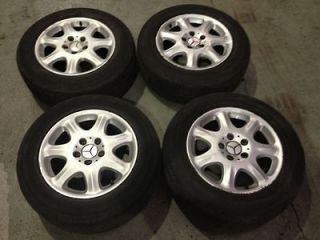 16 MERCEDES S CLASS RONAL ALLOY WHEEL SET WITH GOOD TYRES 225/60