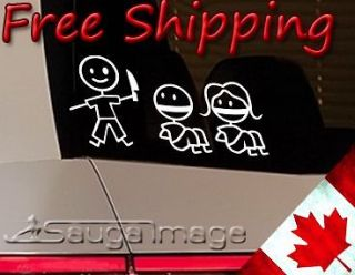 STICK FAMILY KIDNAP Hate window sticker decal F*@K your stick family