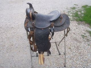 Nice Older Black Western Horse Saddle 13 1/2