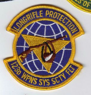 PATCH USAF 123RD WEAPONS SYS SCTY FLT KENTUCKY AIR GUARD LONGRIFLE