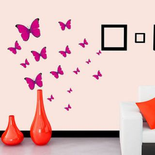 Removable Butterfly Feifei Art Decor Wall Stickers Kids Room/ Decals