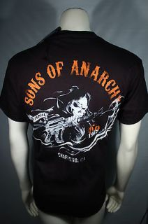 SONS OF ANARCHY 2SIDED CHARGING REAPER SOA SAMCRO T TEE SHIRT SIZE