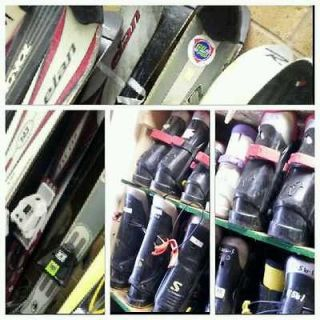 ski package rental skis bindings boots 4 and poles 138cm