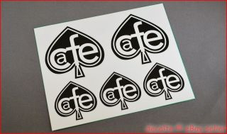 CAFE RACER project Ace of Spades Heart Decals Logos Stickers Ducati