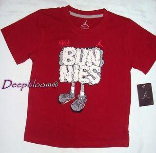 NIKE JORDAN TOP SHIRT BOYS RED SZ 7 BUNNIES NEW $19