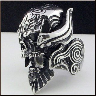 COOL HORRIBLE SKULL Stainless Steel Ring Size 11.75 NEW