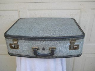 Grey US Trunk Co. Hard Shell Luggage Suitcase 21x15x6 Clean w/stains