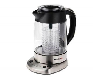 BREVILLE PURATEA STAINLESS STEEL KETTLE + TEA MAKER WITH INTEGRATED