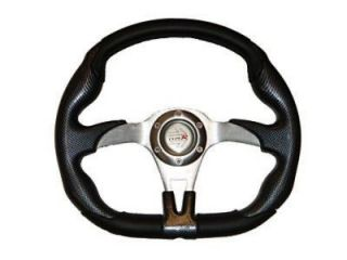 POLARIS RZR OFFROAD STEERING WHEEL (Black) with Adapter