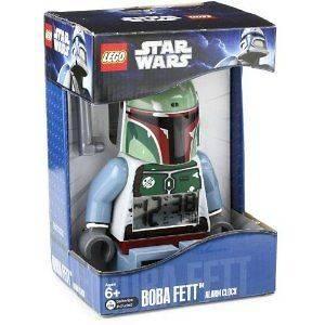 STAR WARS LEGO BOBA FETT MINI FIGURE ALARM CLOCK