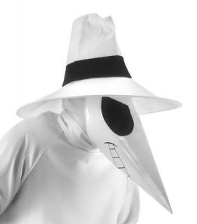 Spy Vs Spy WHITE Adult Costume Kit Hat Mask Headsock NEW MAD