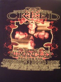2000 CREED FLORIDA HARD ROCK BAND TOUR SHIRT HUMANCLAY SEVENDUST 3