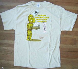 NWT FAMILY GUY Quagmire THANKS FOR THE LOVE EARLY 90s PRINTER T Shirt