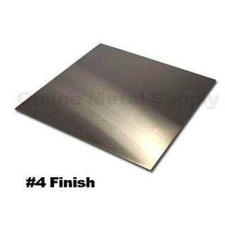 304 Brushed Stainless Steel Sheet .029 x 12 x 24   #4 Polish