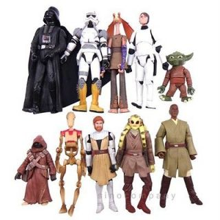 10X Star Wars TROOPER Battle Droid Yoda Jawa Obi Wan Figure Xmas Gift