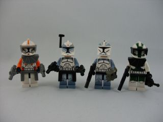 Lego Star Wars Commander Wolffe Wolfpack Trooper Cody and Gree