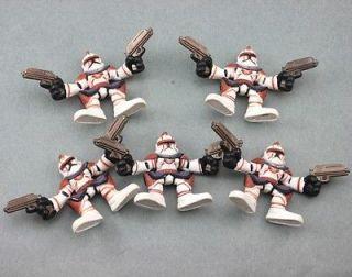 SHIP 5PCS STAR WARS GALACTIC HEROES COMMANDER FIL Troopers FIGURE SW70