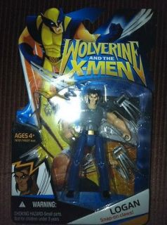 And The X Men Animated Action Figures Logan Snap on claws Gray Wave 1