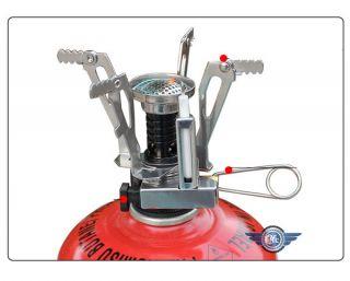 Outdoor Picnic Butane Propane Gas Burner Portable Camping Mini Steel