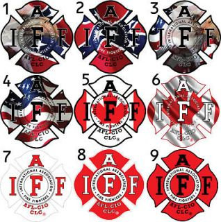 Six   2 IAFF Firefighter Sticker Decal 36 Options