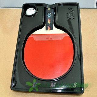 DHS Ping Pong Paddle Table Tennis Racket 4 Star Short Professional