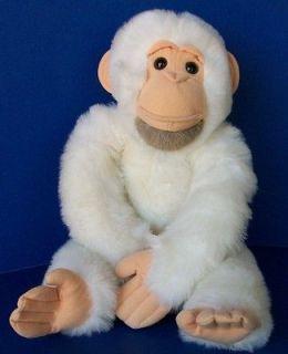 LARGE Vintage WHITE CHIMPANZEE Carousel by Guy PLUSH stuffed animal