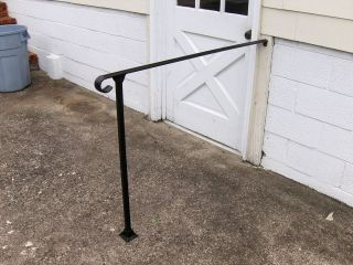 48 Wrought Iron Railing with One Post and Mounting Shoe