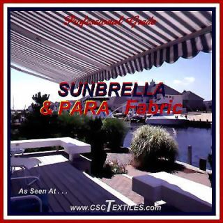 PARA 60WR / UVR SUNBRELLA Outdoor FABRIC 5yd for AWNING Canopy