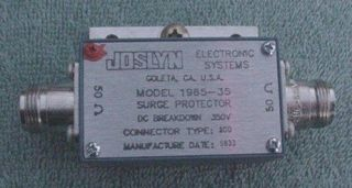 JOSLYN 1965 35 COAXIAL RF SURGE PROTECTOR 50 OHM N CONNECTOR