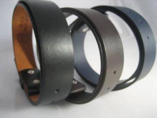 Snap On Leather Mens Belt strap Small Medium Large +