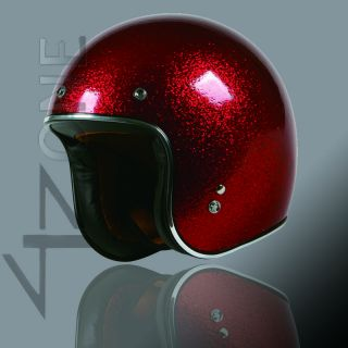 OPEN FACE RETRO VINTAGE MOTORCYCLE SCOOTER HELMET BLUE RED WHITE XL