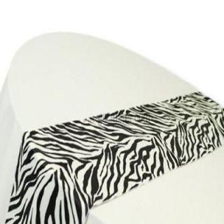 10 Pack 12 x 108 Flocking Zebra Taffeta Table Runners