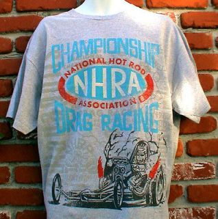 HOT RAT ROD NHRA DRAG RACING T SHIRT FORD CHEVY MOPAR GASSER IHRA USAC