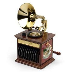 Mr. Christmas Gold Label Harmonique tabletop Gramaphoone Music Box NIB