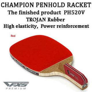 Champion PH520V Table Tennis Racket Penhold Paddle Ping Pong Red Color