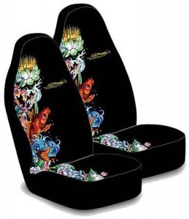 Newly listed KOI FISH ED HARDY SEAT COVERS PAIR ( 2 SEAT COVERS) 1