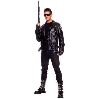 The Terminator Adult Mens Black Motorcycle Style Jacket Halloween