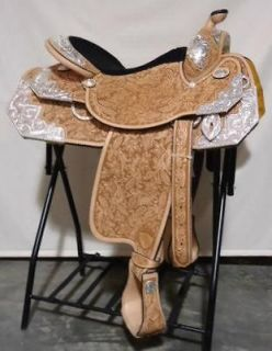 NEW! Tex Tan Imperial Silver Diamond Show Saddle 16 seat with Angle
