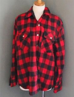Vtg Appalachian Buffalo Plaid Flannel Shirt Men L check grunge PUNK