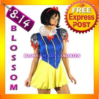 8051 Ladies Princess Snow White Disney Fairy Tales Fancy Dress Costume