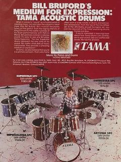 1985 TAMA ARTSTAR SUPERSTAR SWINGSTAR IMPERIALSTAR BILL BRUFORD DRUM
