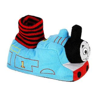 THOMAS THE TANK TRAIN Toddler Boys Socktop SLIPPERS 5 6 7 8 9 10 ~ NWT