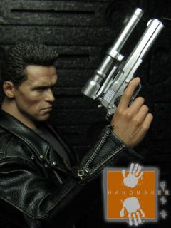 Hot Custom 1/6 Toys Hand Gun Pistol fit to T2 T800 Terminator
