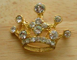 Tiara Crown Pin Crystals Princess Pendant and Pin