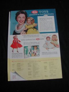 1958 ideal print ad shirley temple doll roy rogers toys 3 page