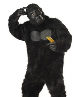 Gorilla Chimpanzee Monkey Fur Bodysuit Big Ape Mens Halloween Costume