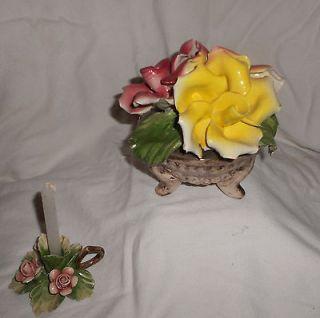 capodimonte flower in China & Dinnerware
