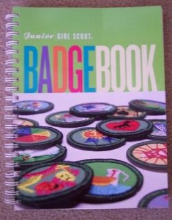 Junior Girl Scout Badge Book 2001 Spiral Bound 237 Pages