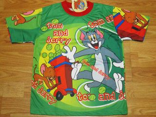 Tom & Jerry Boy,Girl T Shirt #4020 Green Sz 8 age 6 8