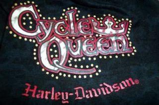 Ladies Black HARLEY DAVIDSON 2 Piece Tank Top Pajamas CYCLE QUEEN